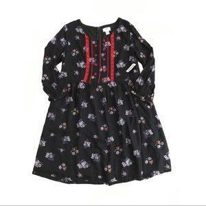 NWT Old Navy Floral Embroidered 3/4 Sleeve Dress